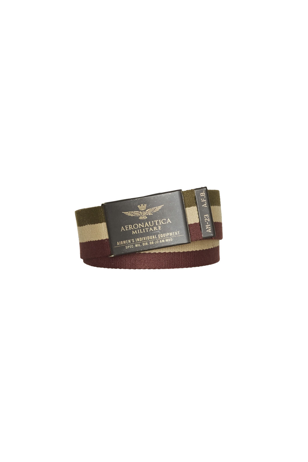 Belt with water print tricolor ribbon