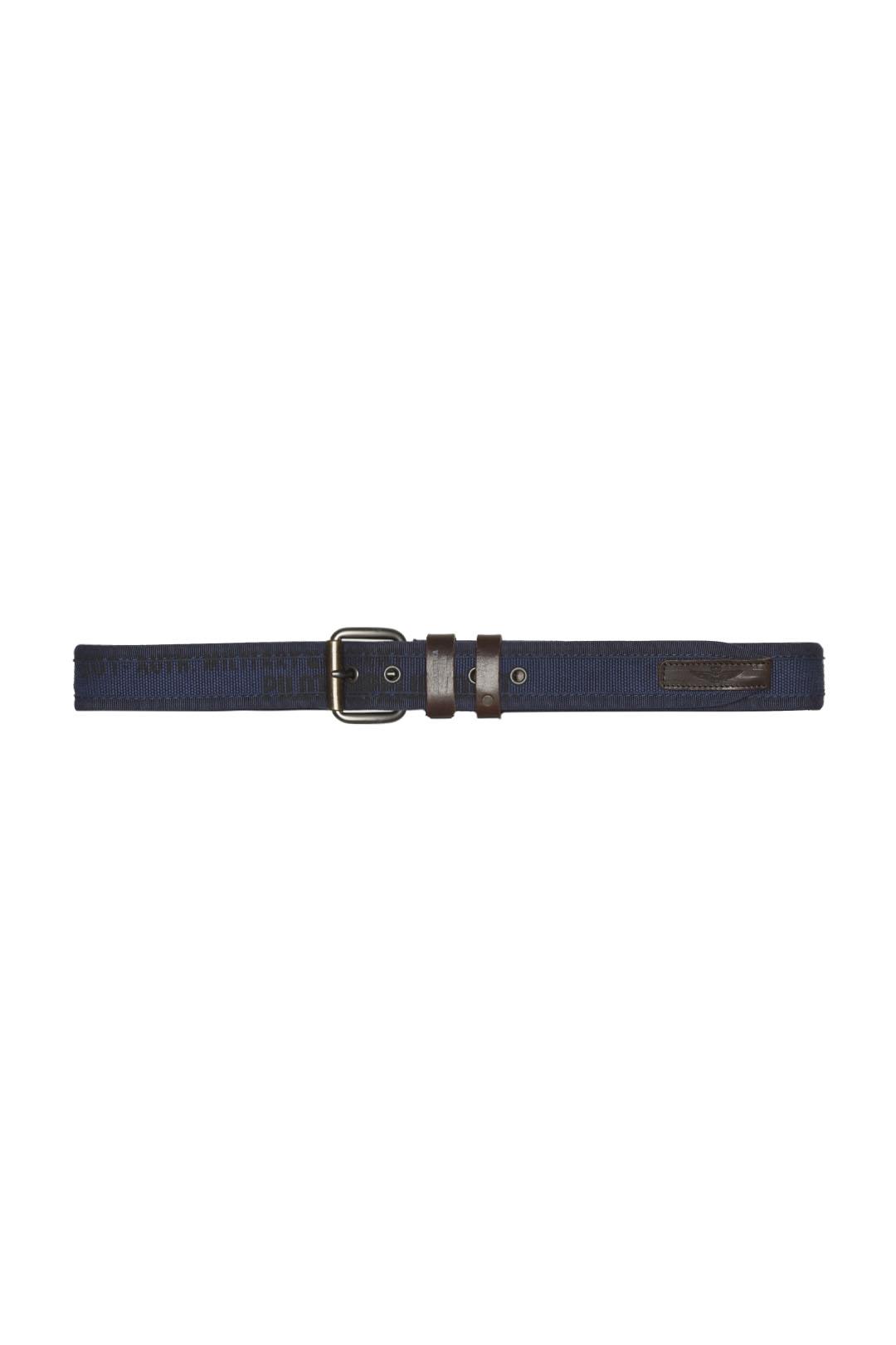 Cintura in cotone con finiture in pelle  2