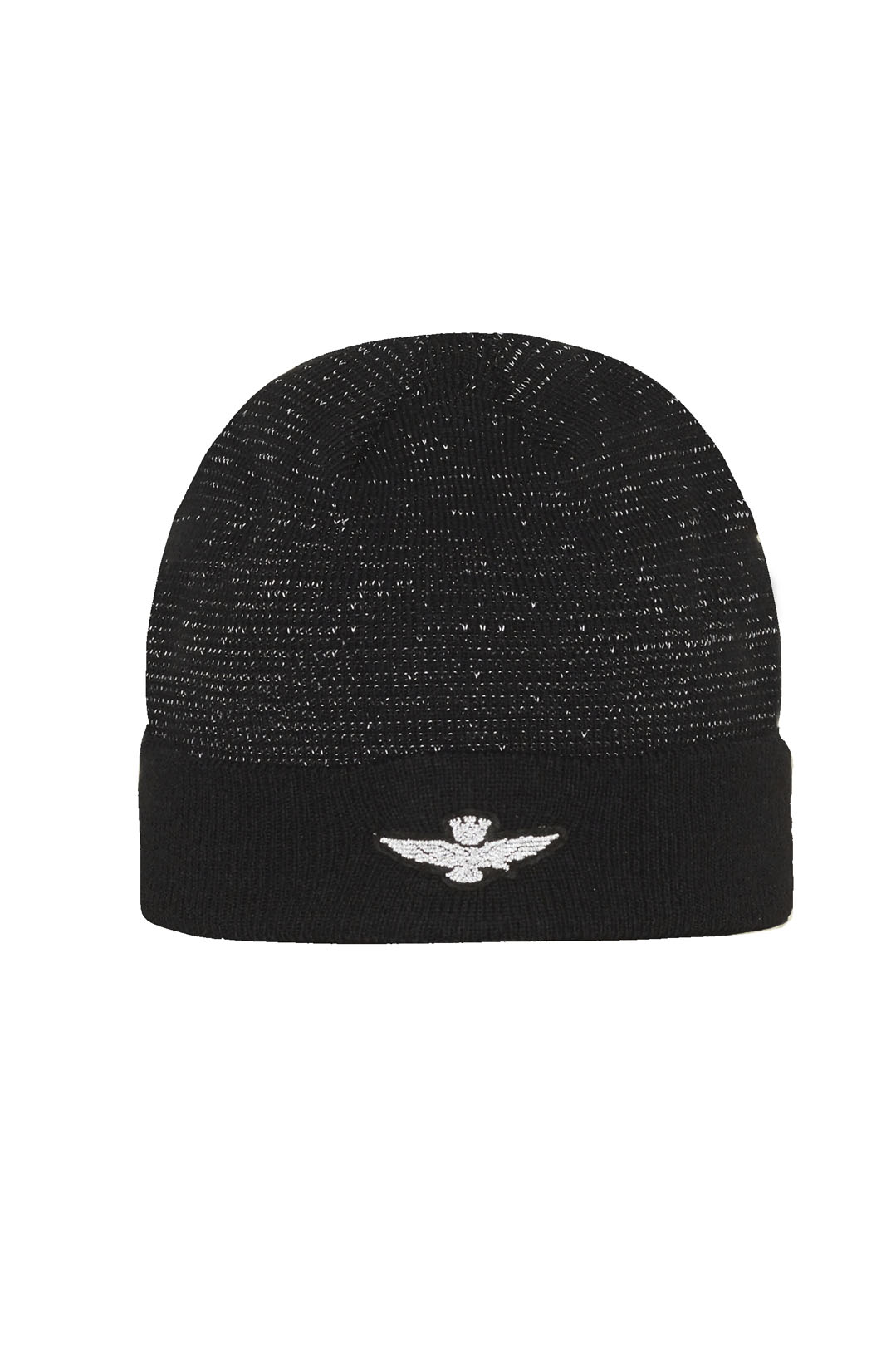 Knit cap with reflecting thread          1
