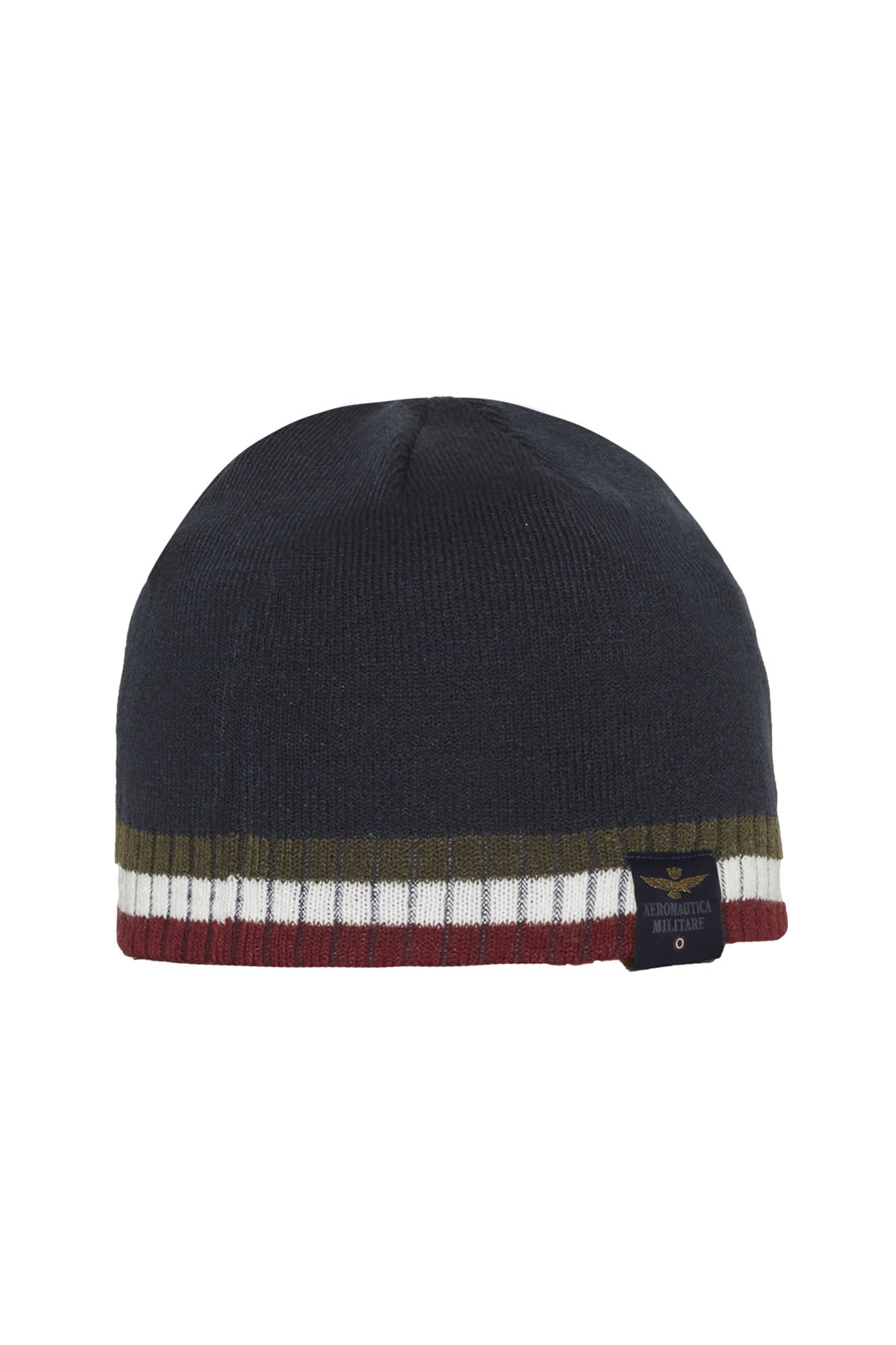 Tricolour embroidery knit cap            2