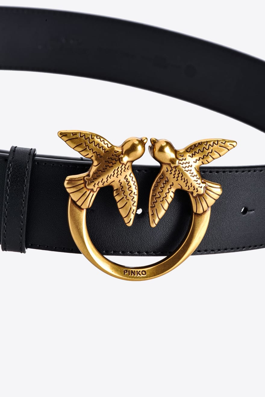 Cintura Love Berry Simply  Belt H4 nera Pinko