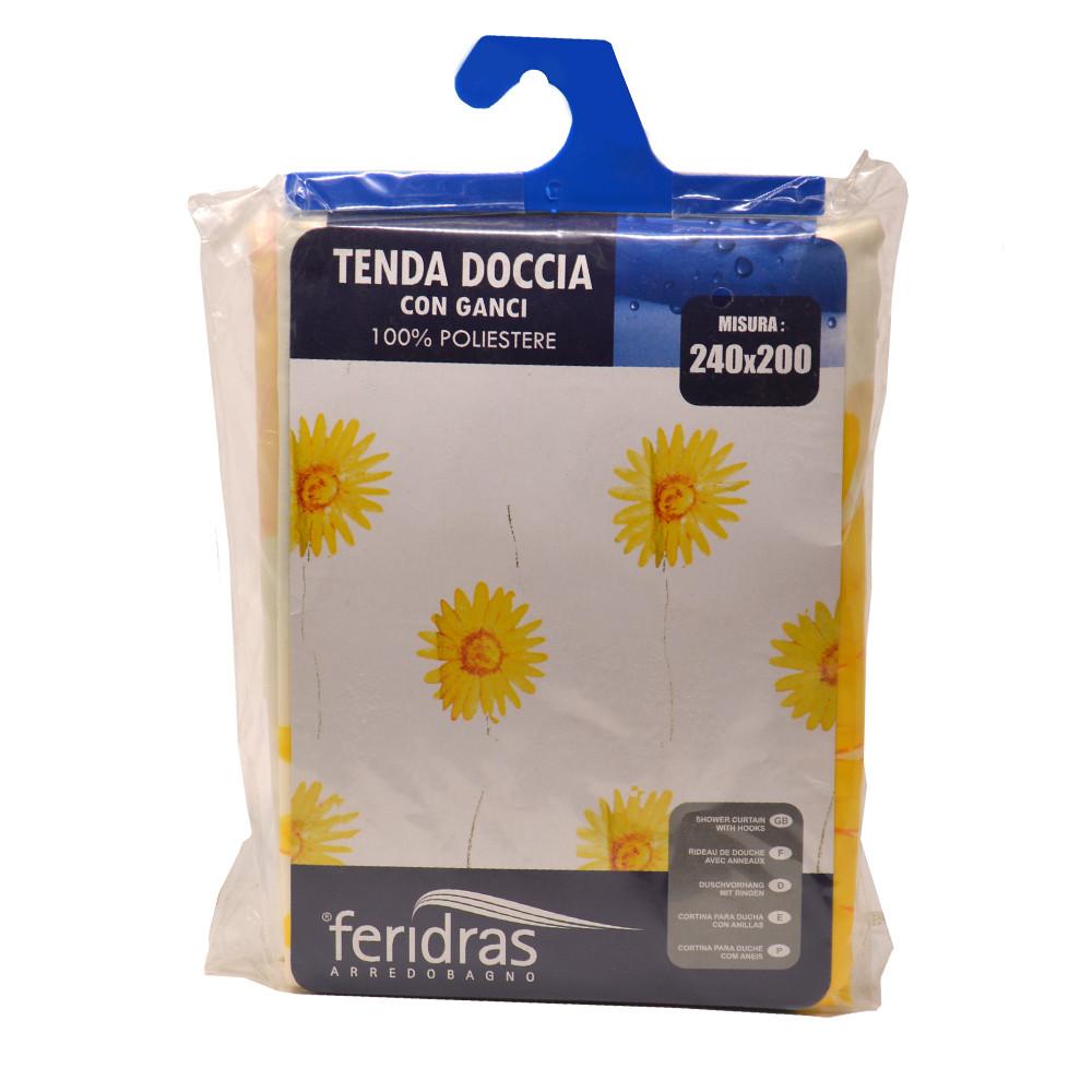 Tenda per Doccia 240x200cm fantasia Fiori