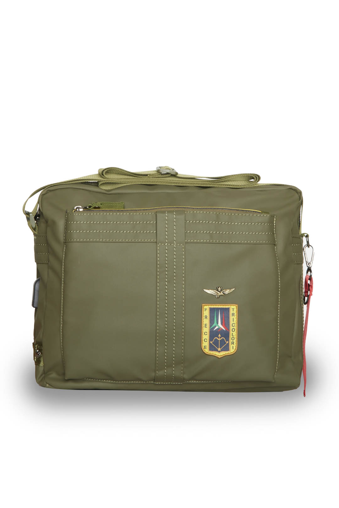 Messenger bag in rubberized fabric       1