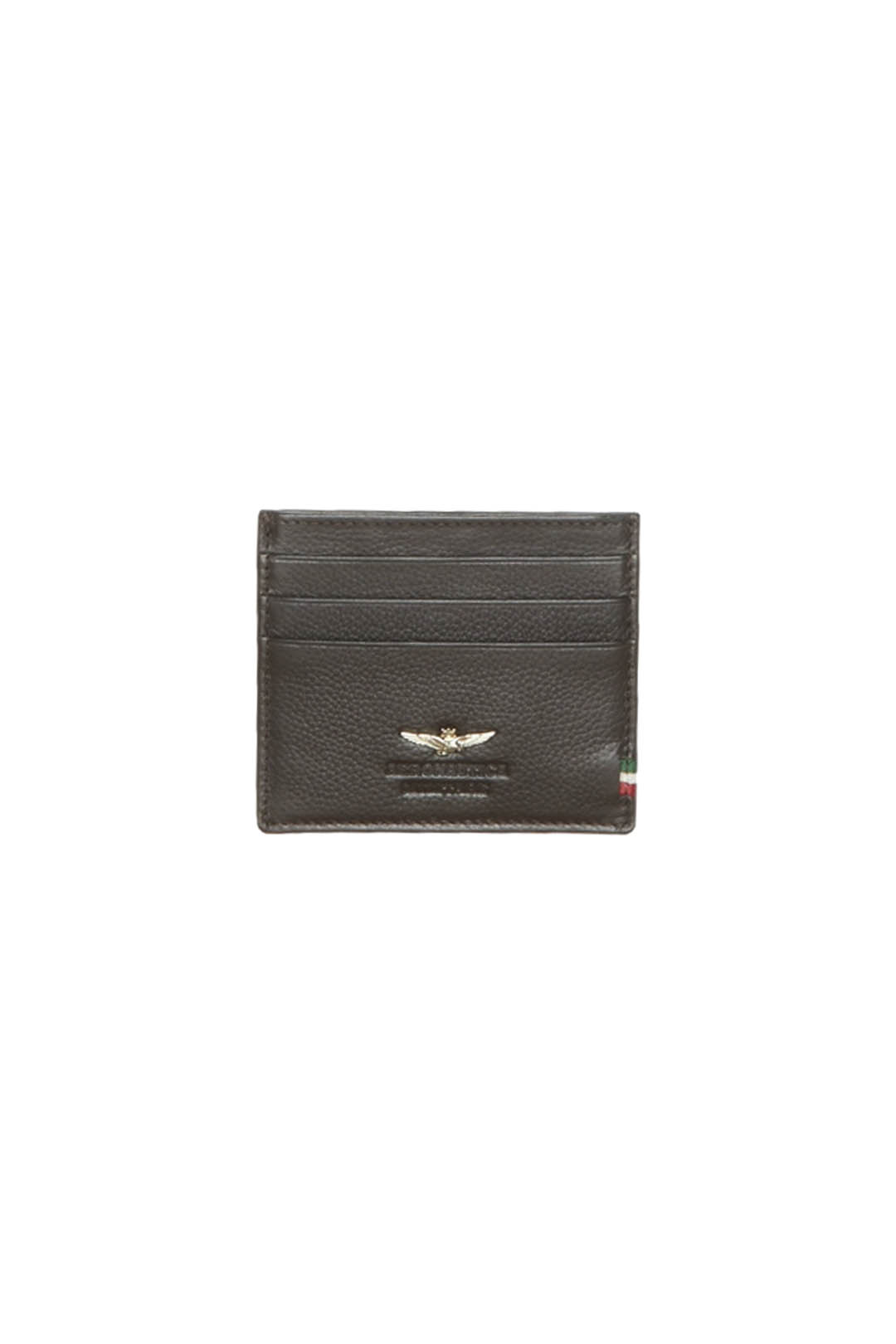 Leather card holder with metal eagle     1