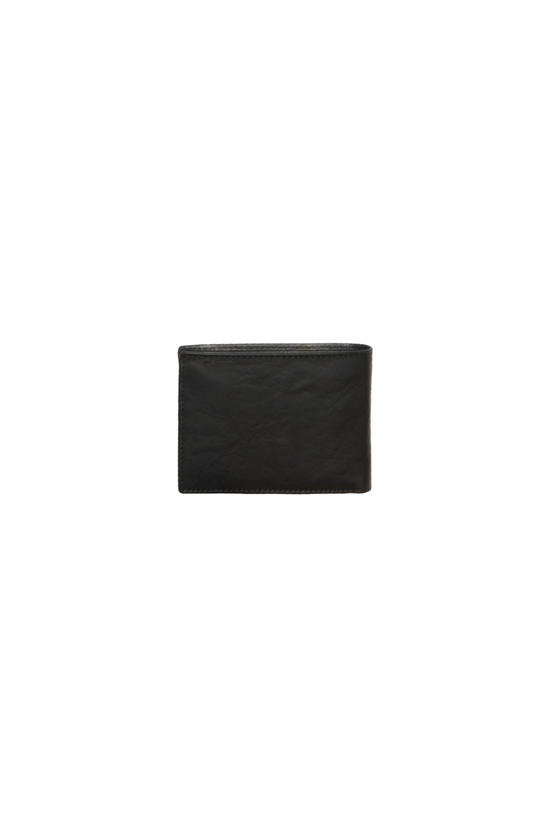 Leather wallet with branded logo         2