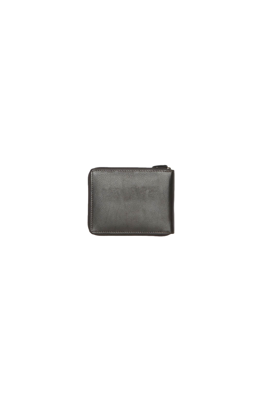 Leather wallet with zip closure          2