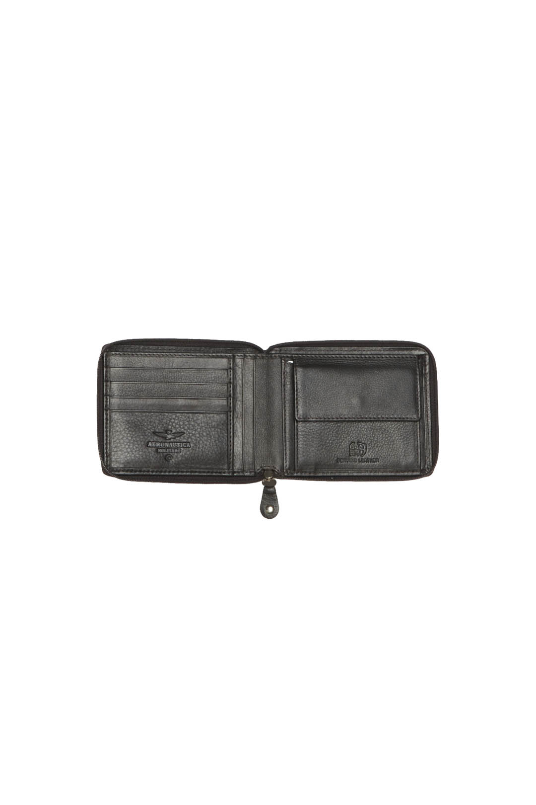 Leather wallet with zip closure          3