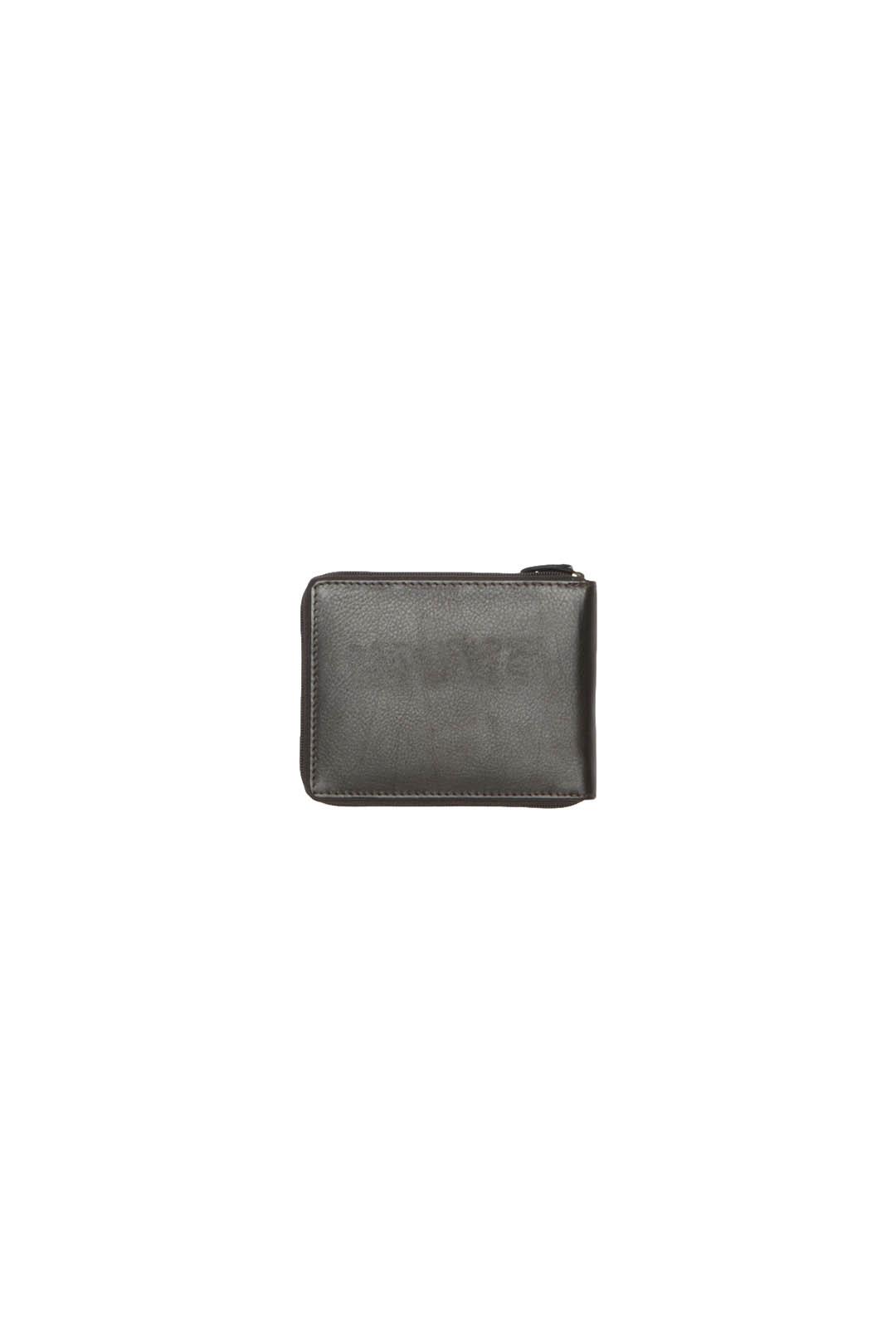 Portefeuille en cuir zippé               2