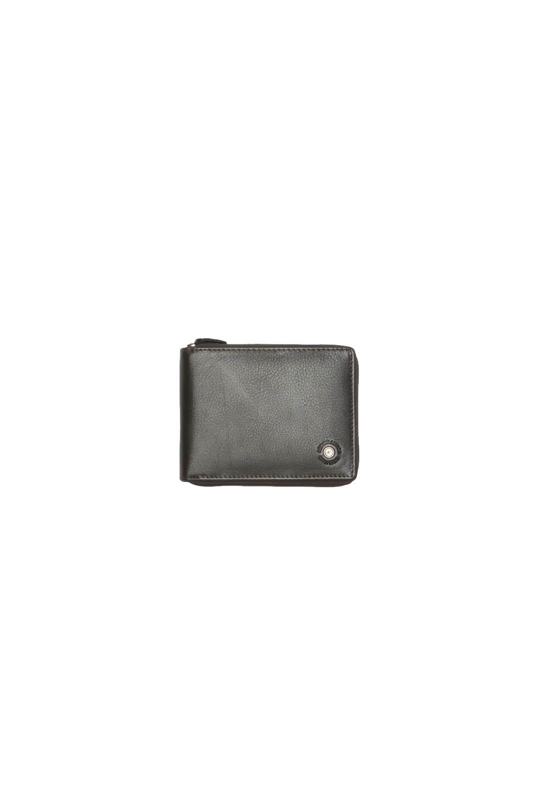 Leder Brieftasche mit Reißverschluss     1