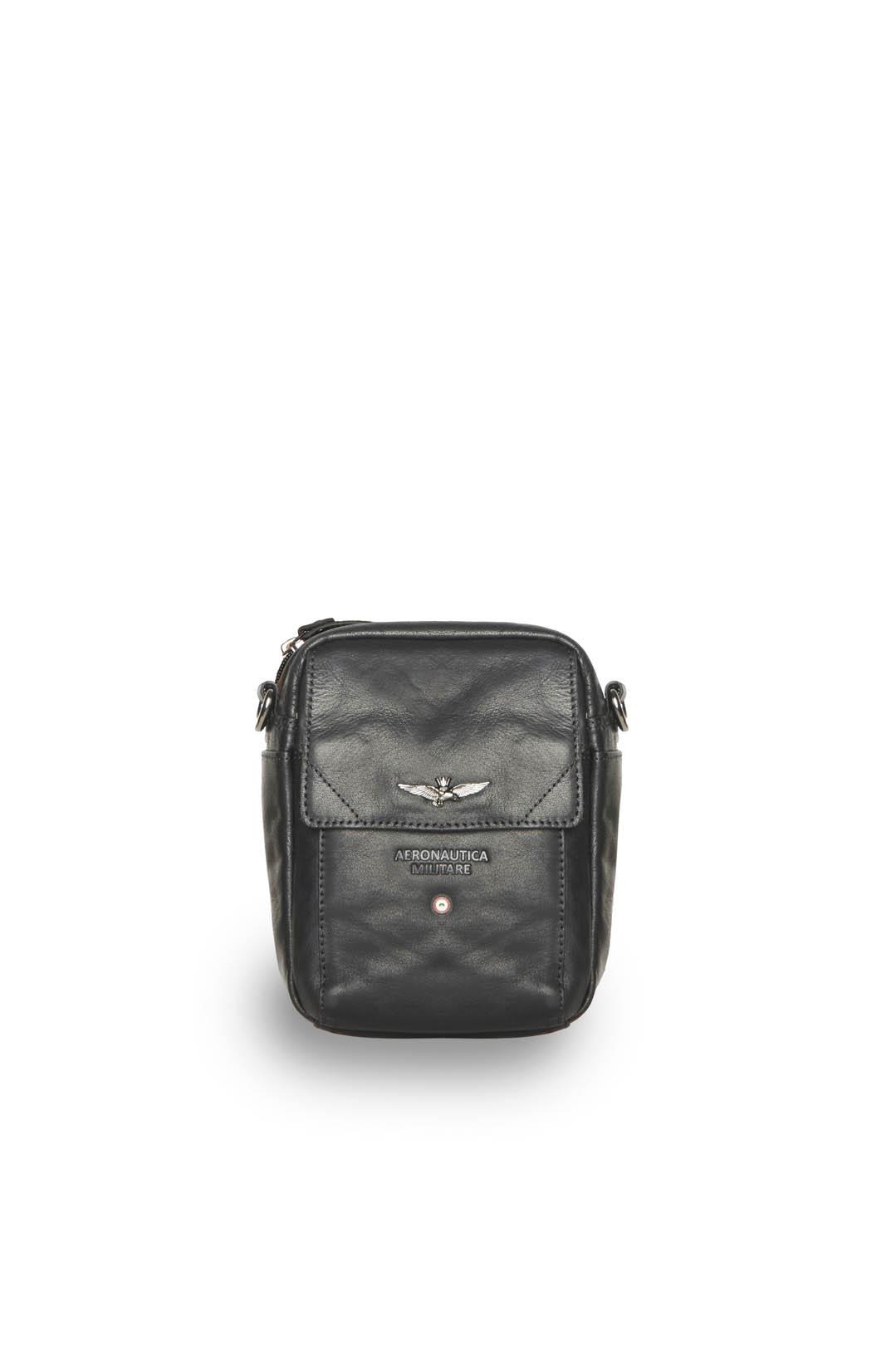 Leather bag with shoulder strap          1