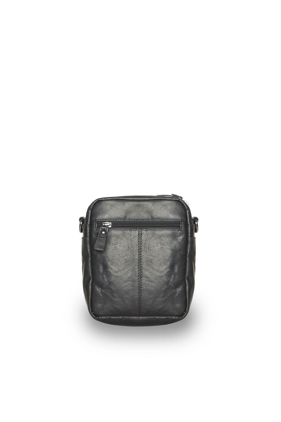 Leather bag with shoulder strap          2