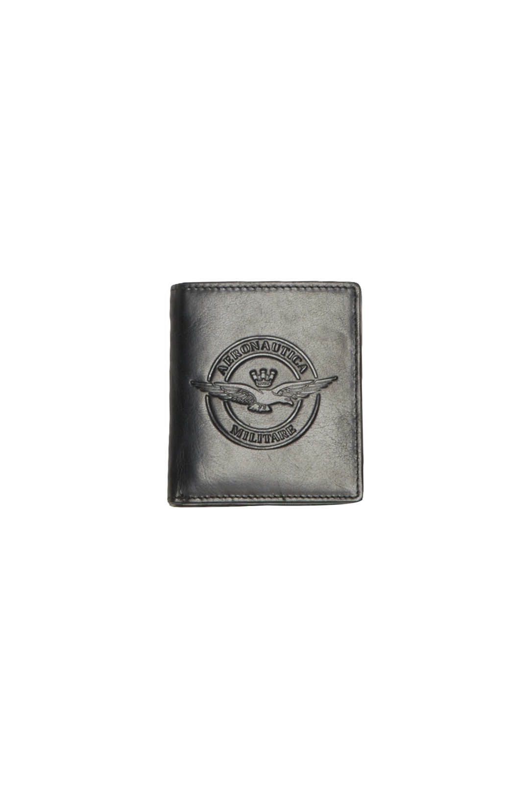 Leather wallet with coin holder          1