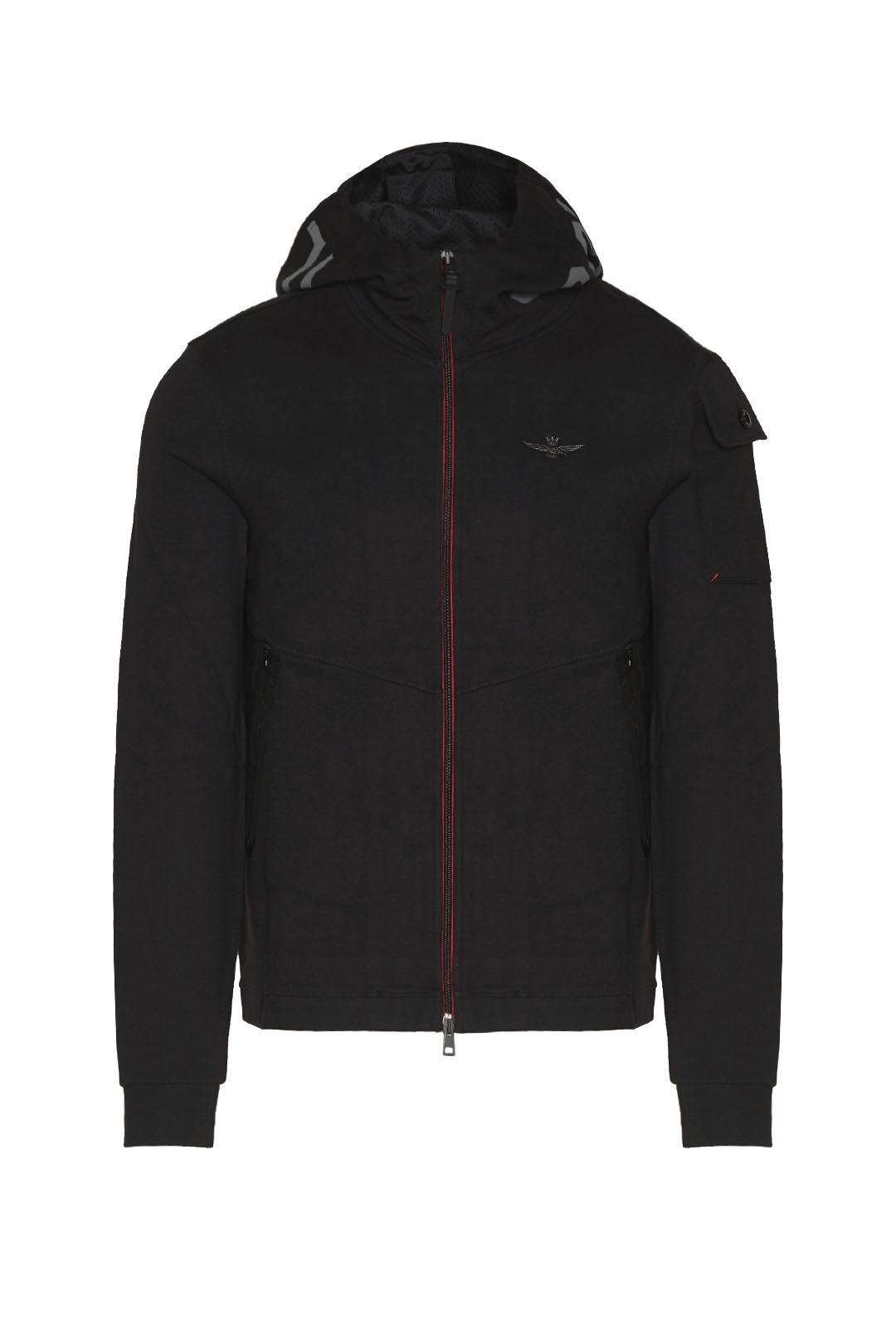 Sweatshirt interlock à capuche imprimée  1