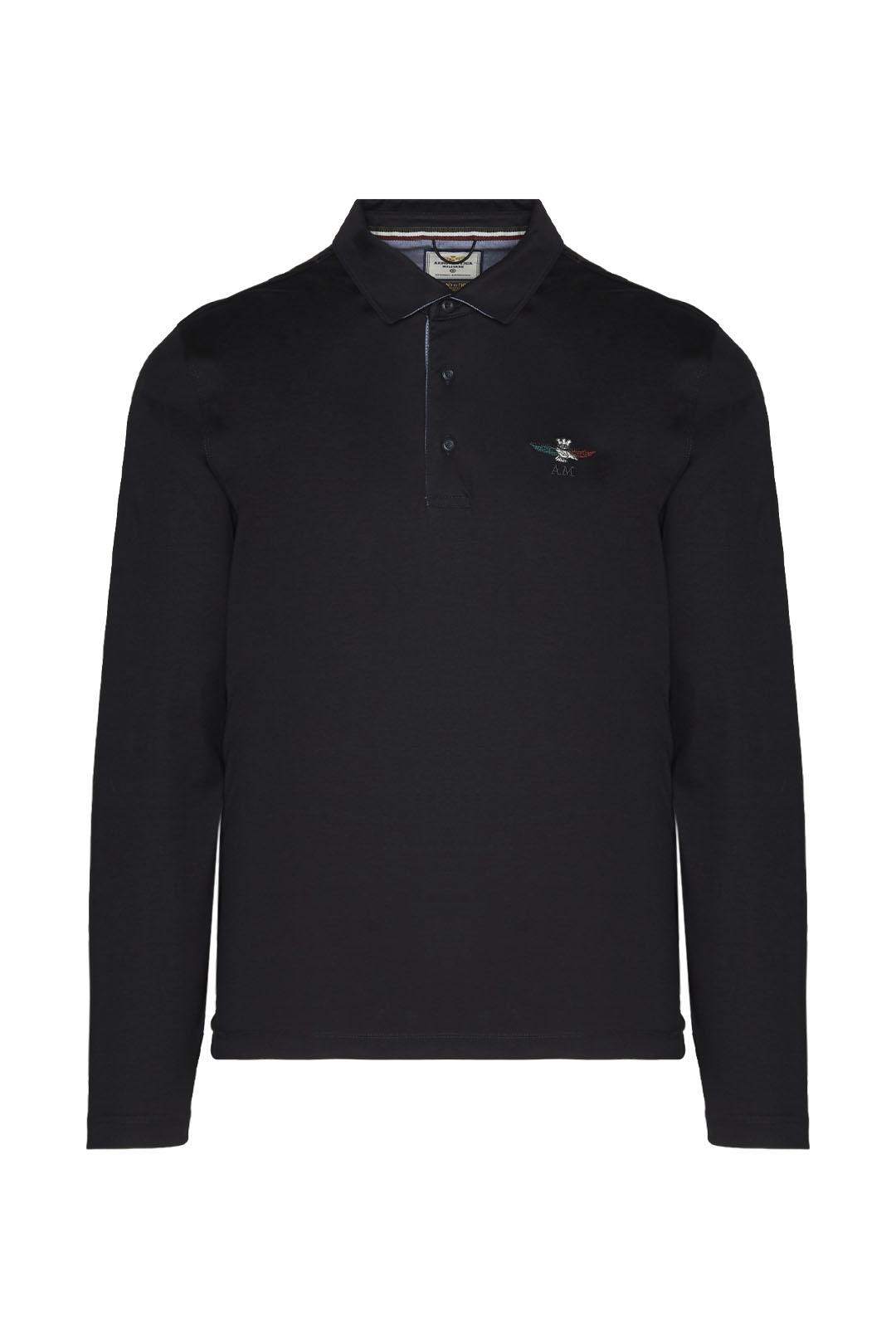 Poloshirt mit trikolorem Adler           1