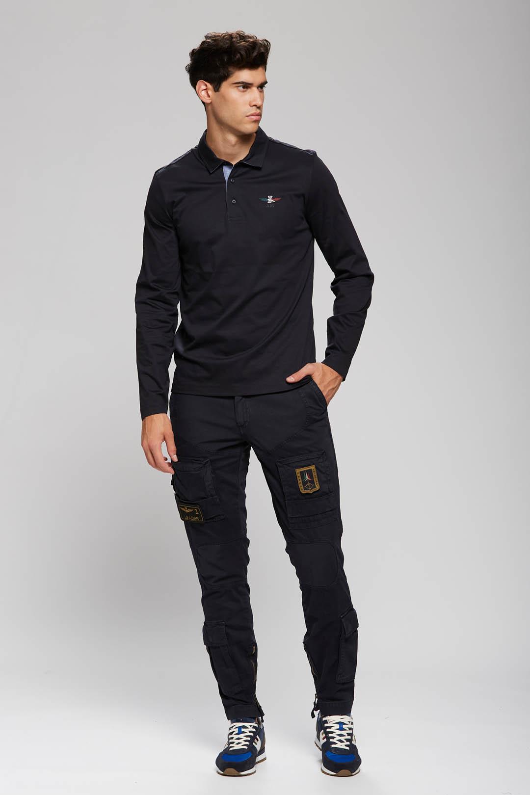 Poloshirt mit trikolorem Adler           4