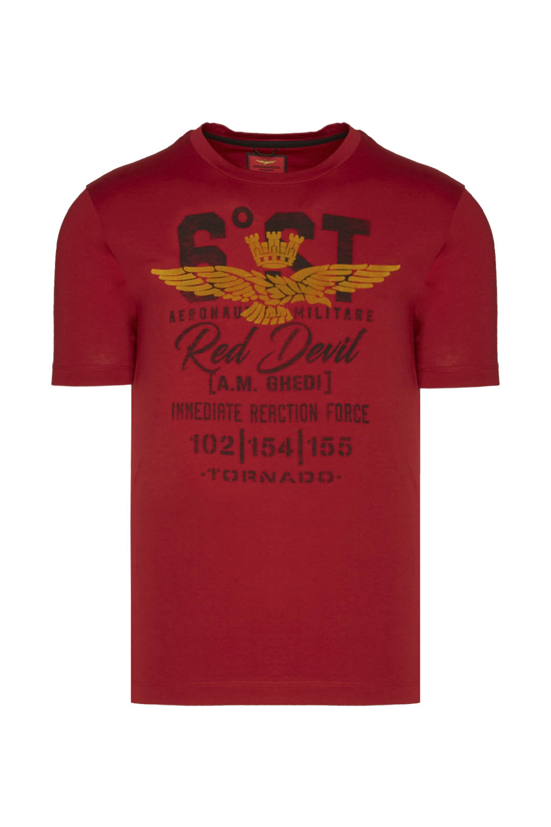 6th Wing Red Devil flock printed t-shirt 1