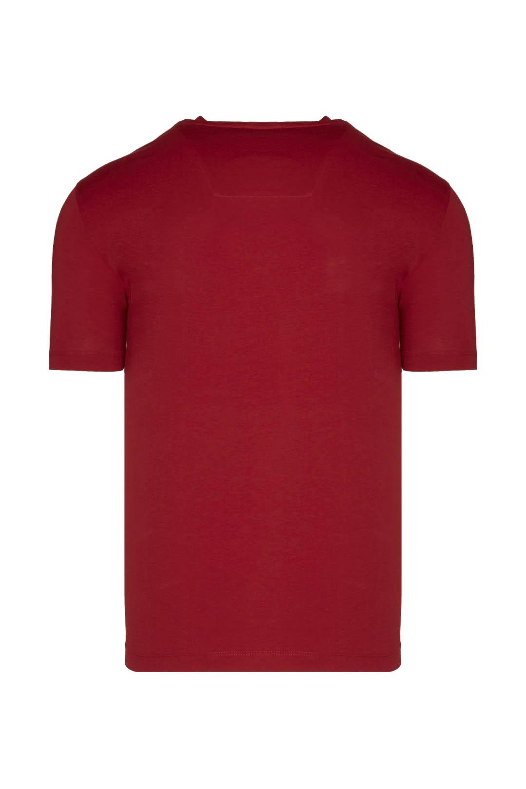 T-Shirt mit Flock Druck                  2
