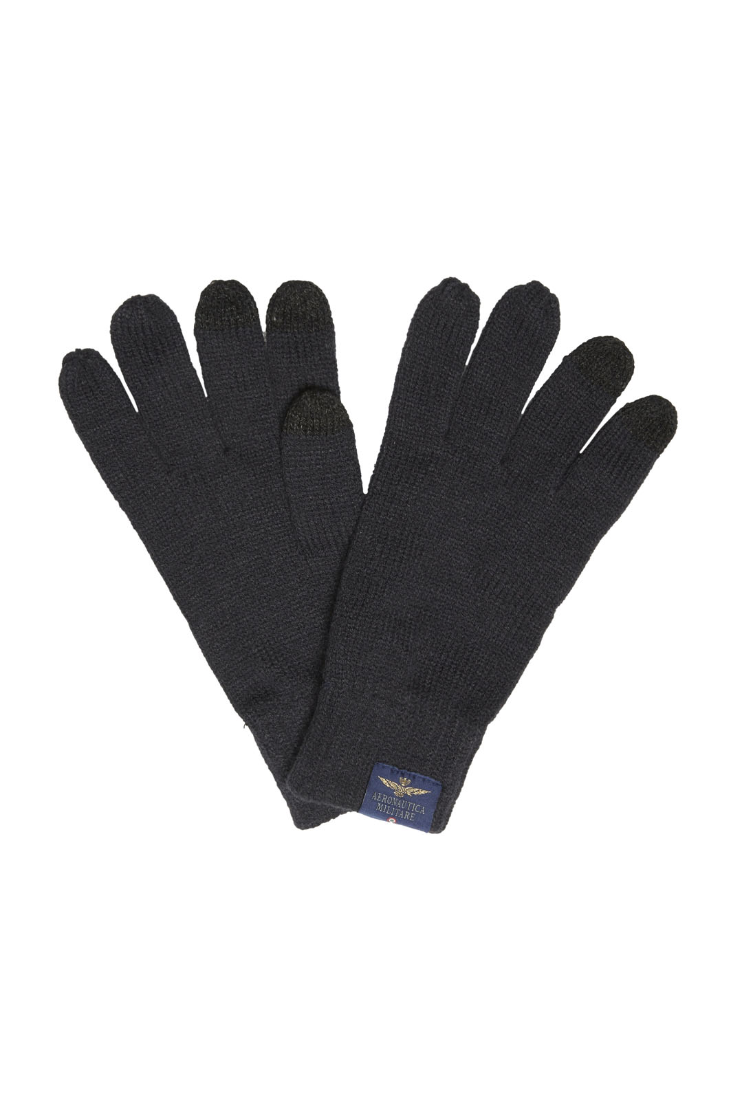 Knitted gloves with logo                 1