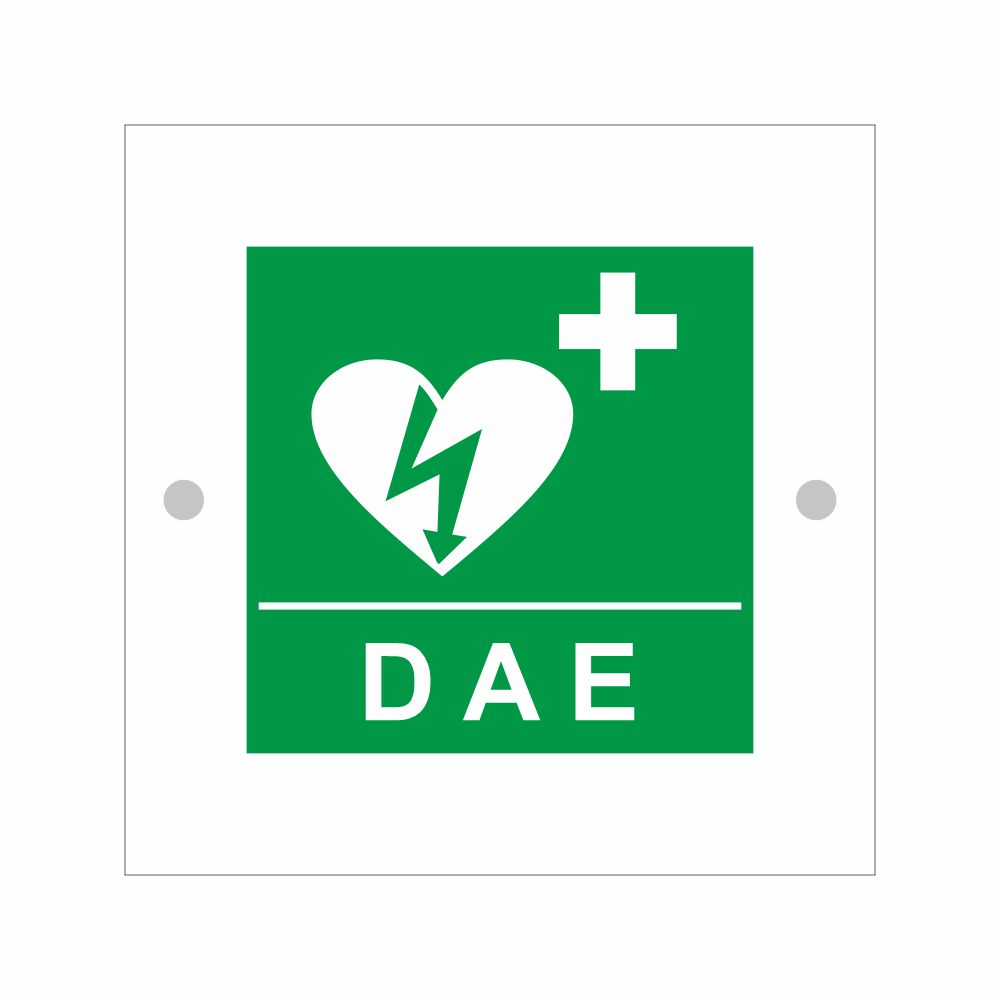 Cartello in plexiglass serie Avantgarde DAE Defibrillatore