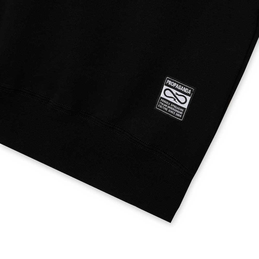 PROPAGANDA Crewneck Label Black