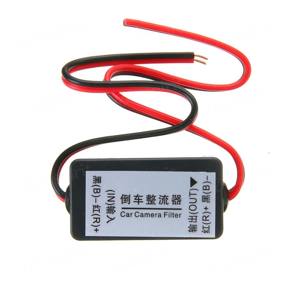Relè raddrizzatore di immagine per telecamera vista posteriore, raddrizzatore filtro del condensatore di potenza 12V per la telecamera di retromarcia