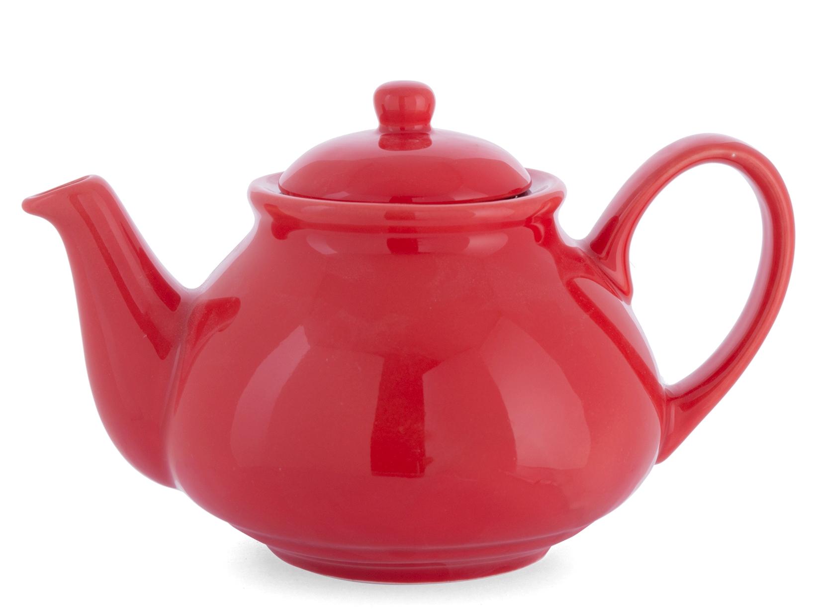 H&h Teiera In Ceramica Rossa Cc 1100