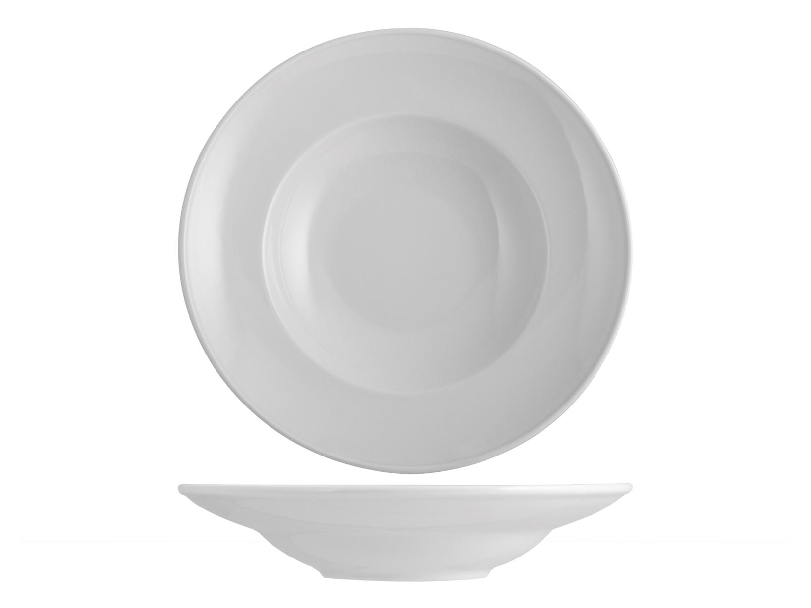 Piatto Pastabowl Porcellana Merano Bianco Cm27