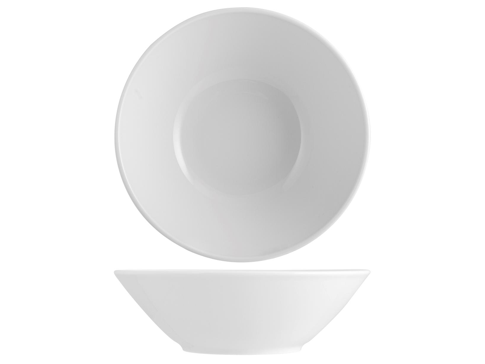 Insalatiera In Porcellana Merano Bianco Cm23