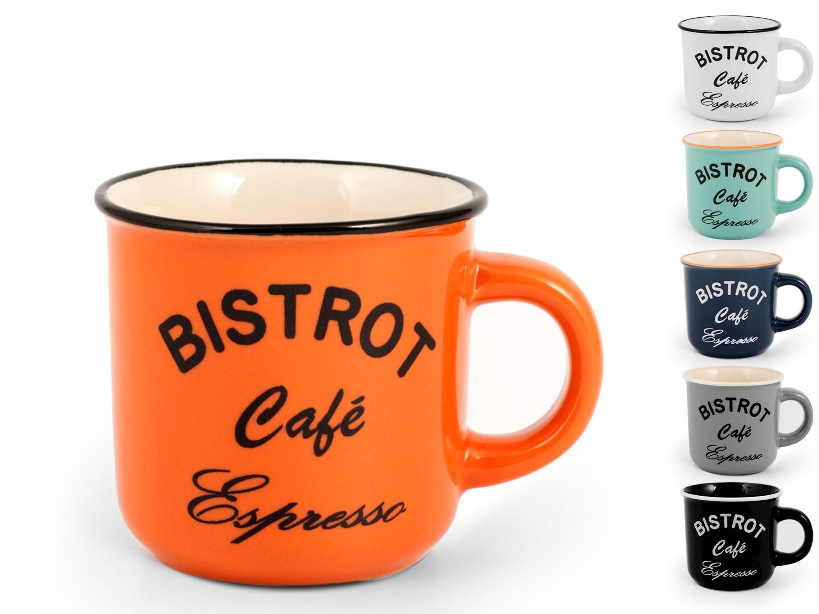 6 Tazze Caffe' In Stoneware Bistrot Senza Piatto Cc120
