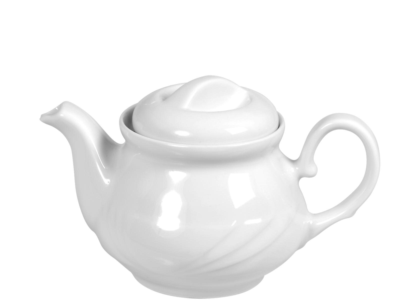Teiera Porcellana Arcadia Bianco Lt0,4