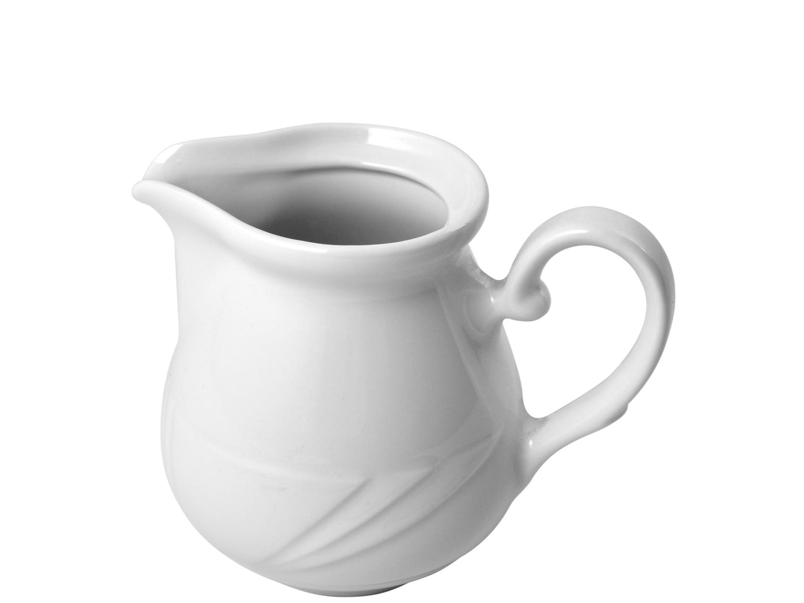 Lattiera In Porcellana Arcadia Bianco Lt0,15