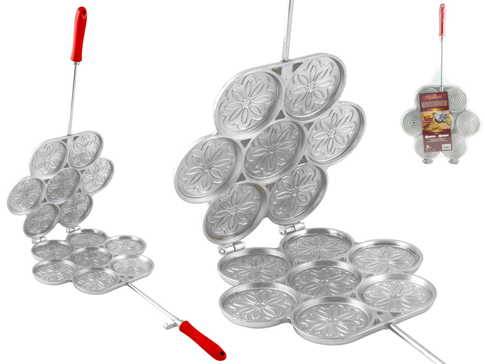 Stampo Per Tigelle In Alluminio 7 Posti Con Ganci