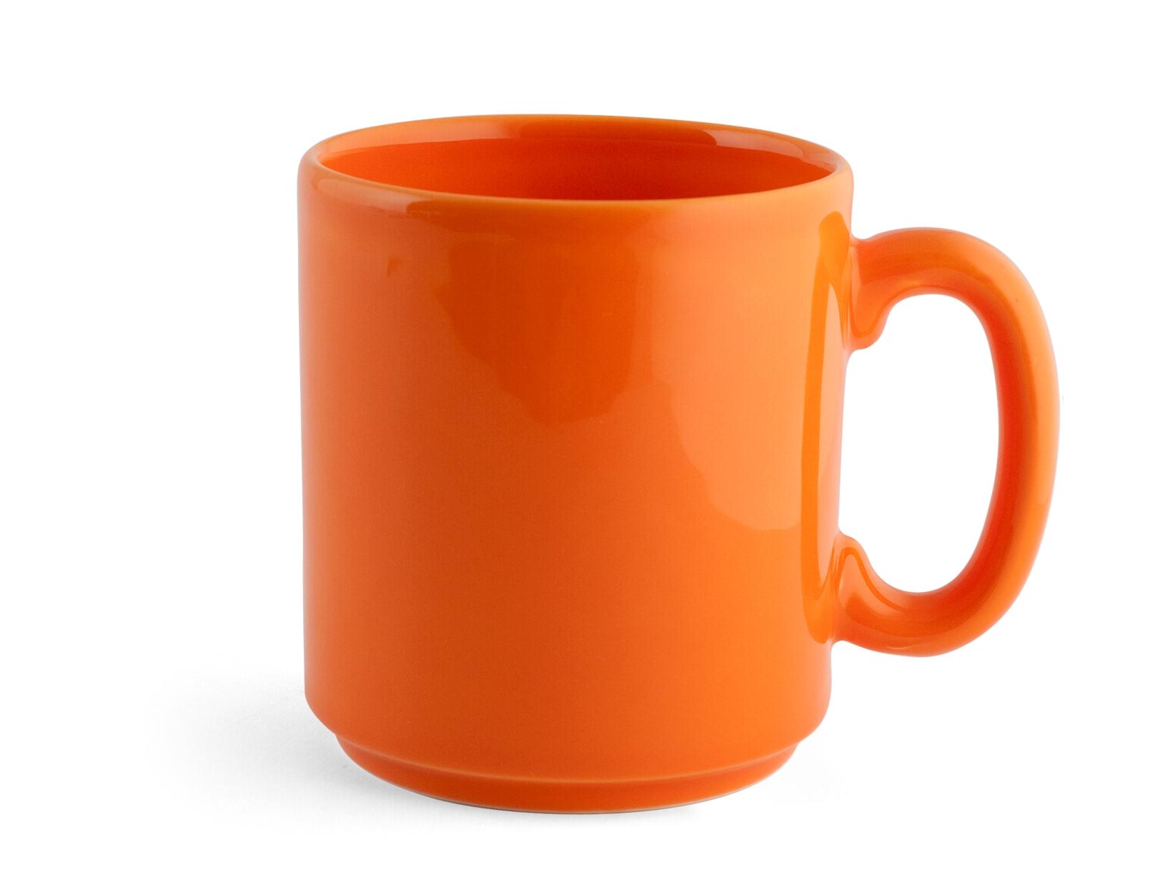 Confezione 6 Mug Ceramica Iris Arancio Cc375