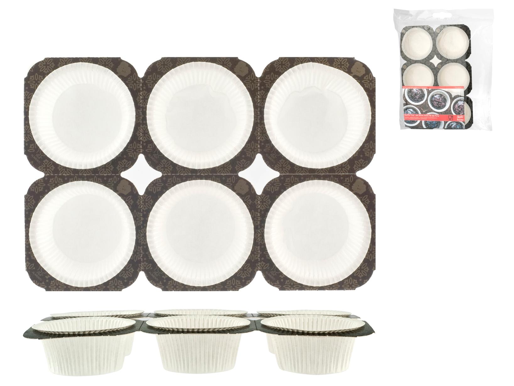 Confezione 12 Pirottini Muffin Cm 5 Vassoio