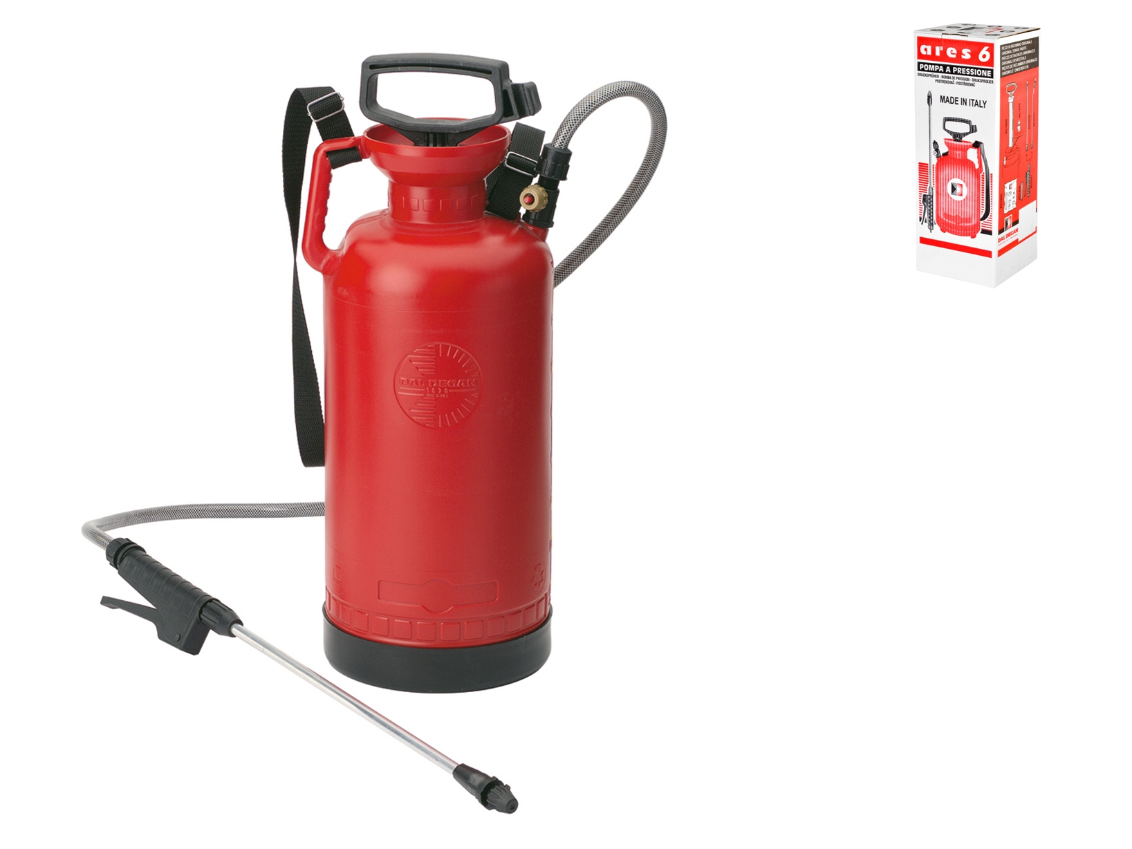 Pompa A Spalla Ares Rosso 6lt