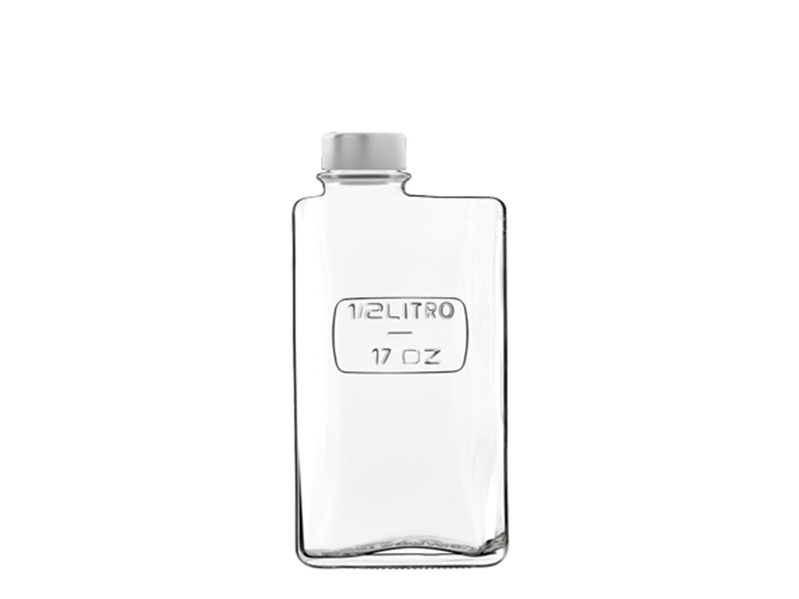 Lattina In Vetro Optima Tappo Ermetico 0,5