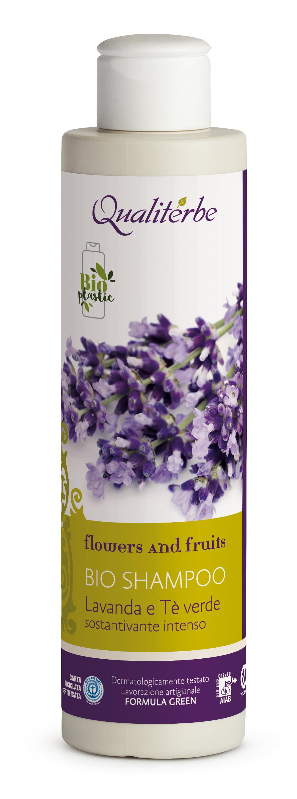 Shampoo sostantivante intenso Lavanda e Tè verde100% Naturale by Qualiterbe