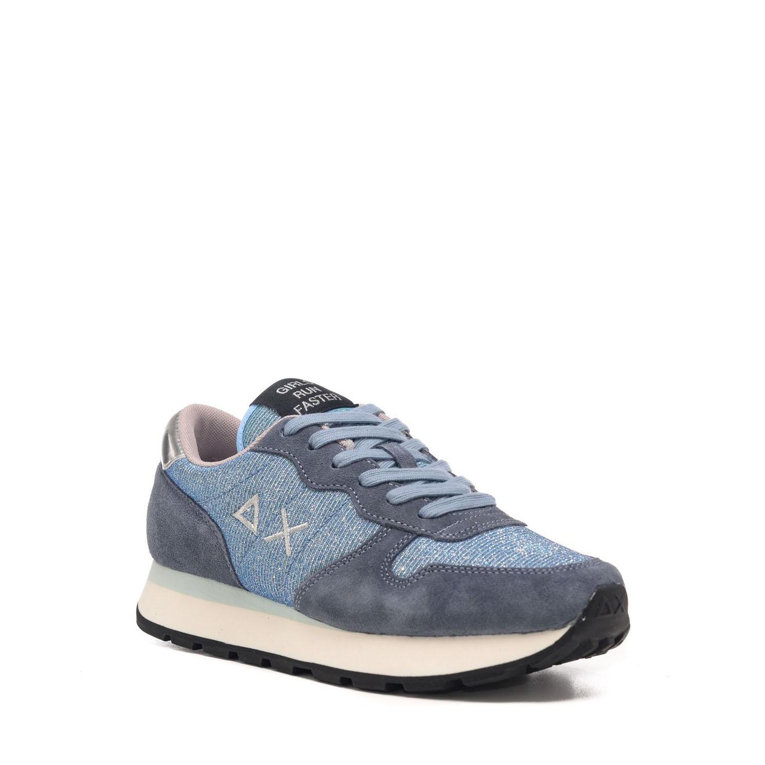 Sneakers Sun68 Ally Thin Glitter Azzurro Z41203 05AZZURRO -A.1