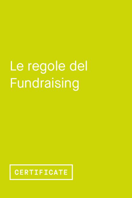 Le Regole del Fundraising