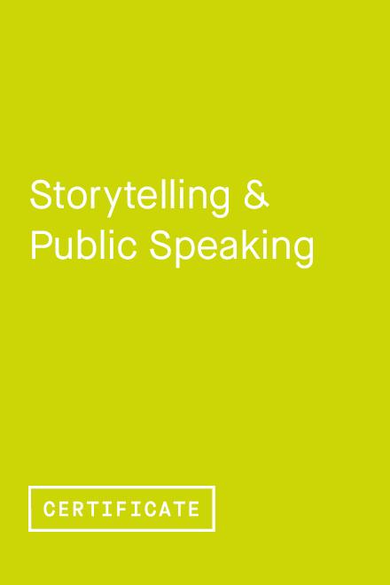 Storytelling & Public Speaking