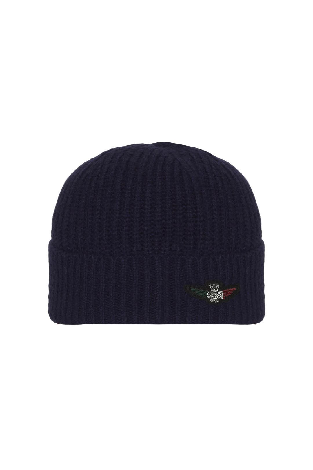 Knit cap with tricolor eagle patch       2