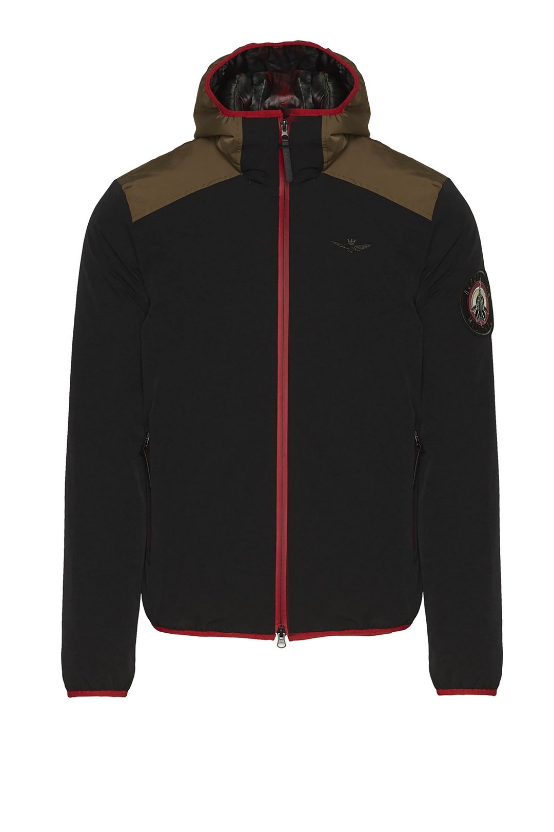 Technical stretch jacket with hood