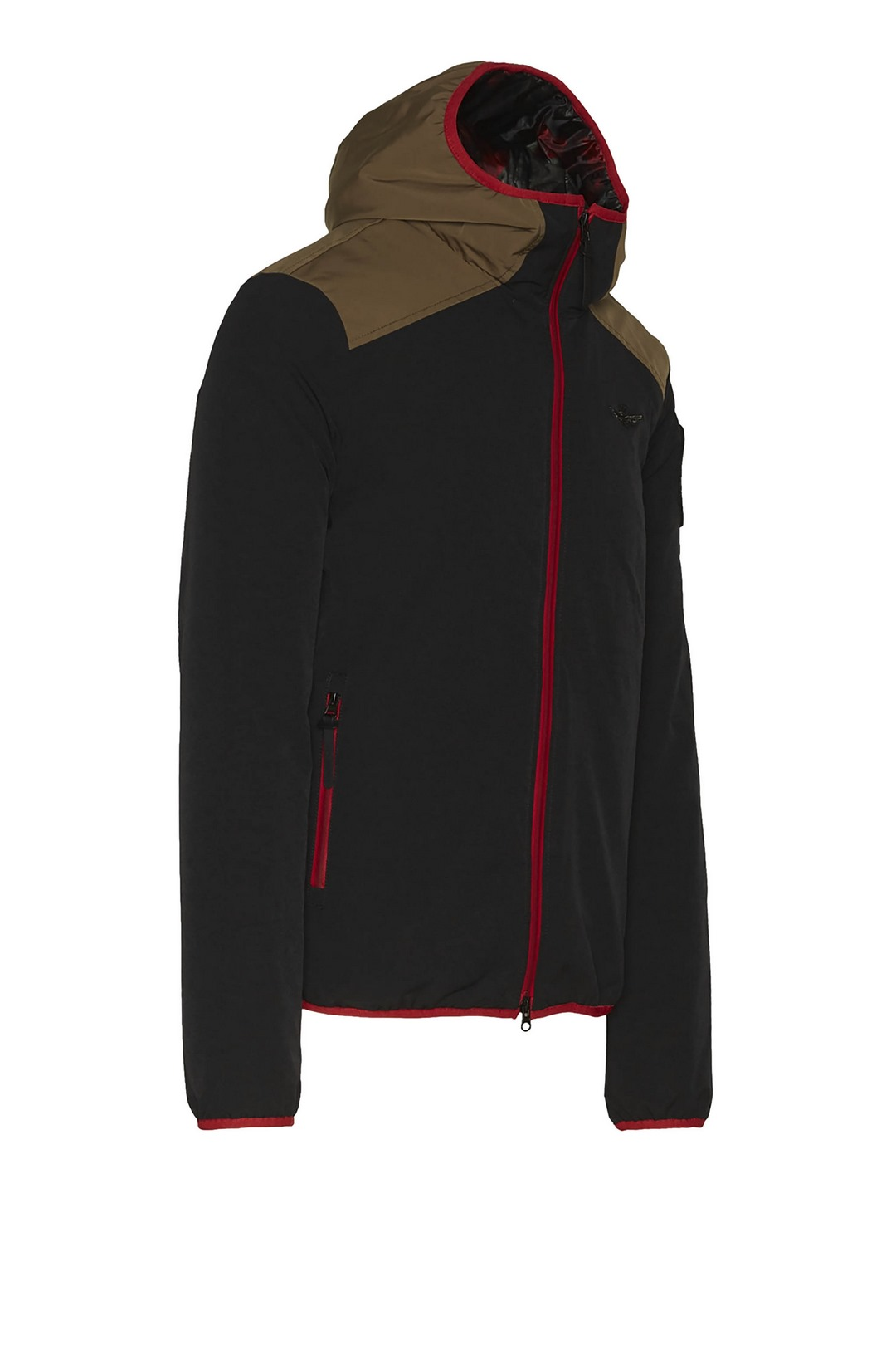 Technical stretch jacket with hood       3
