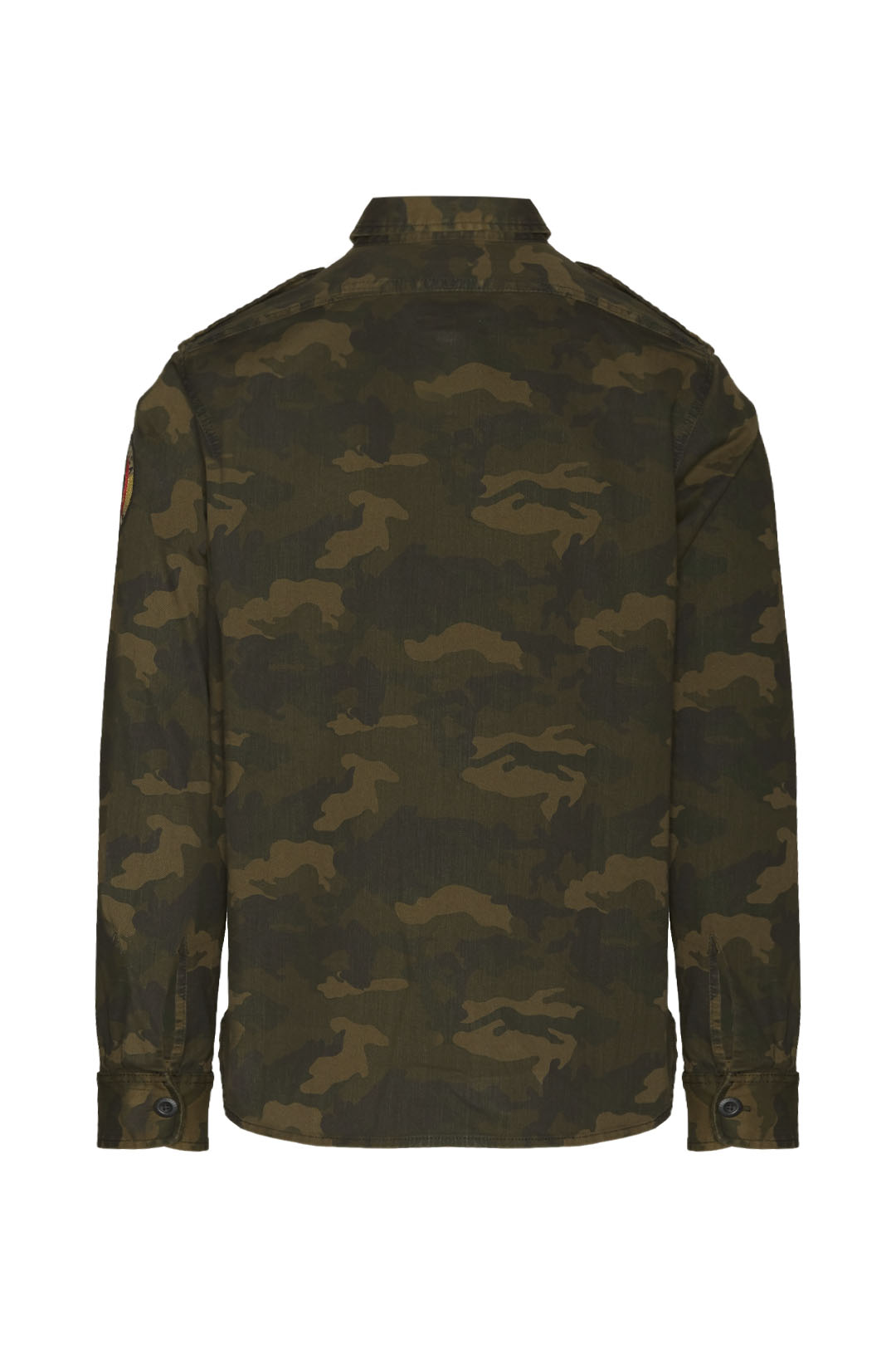 Camouflage military-style cotton shirt   2