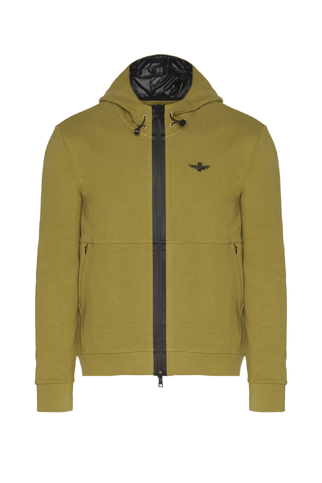 Interlock cotton hooded sweatshirt