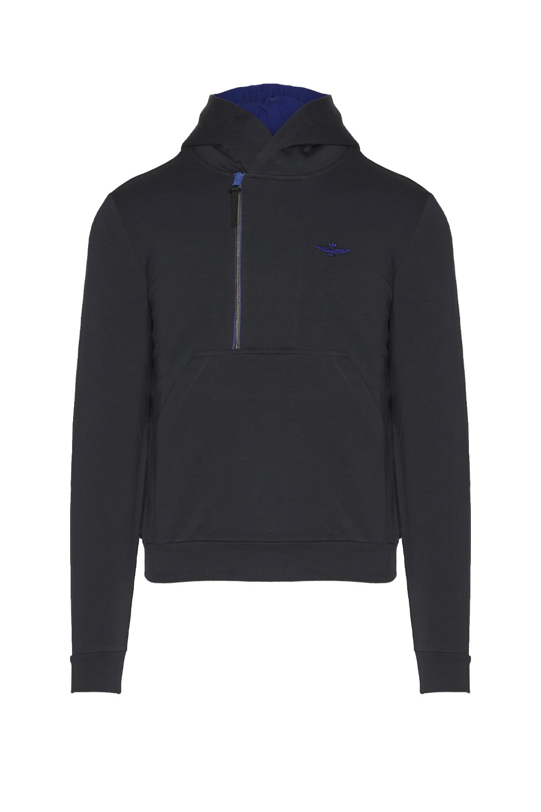 Cotton sweatshirt with side opening