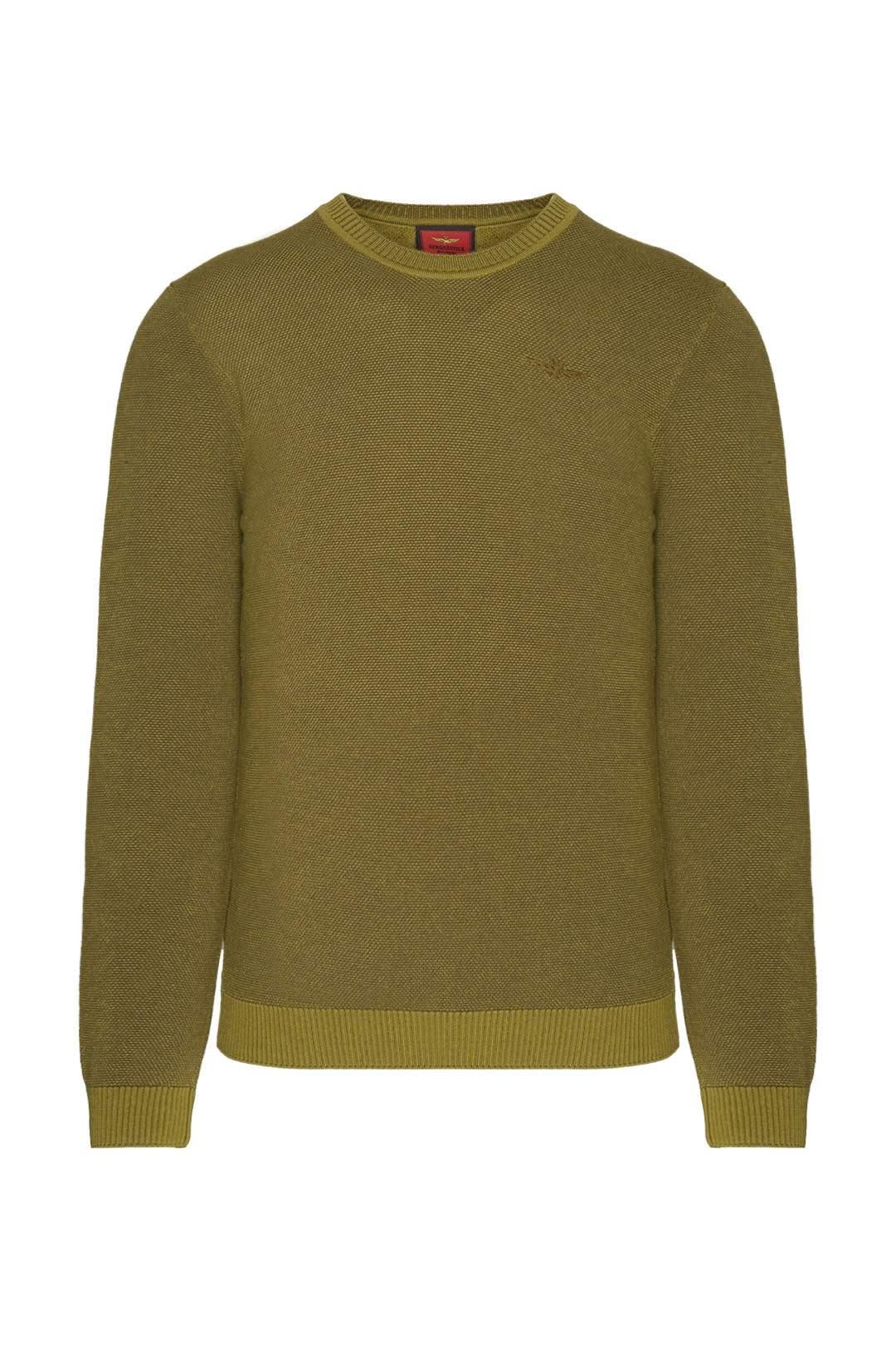 Suéter en mezcla de lana y algodón