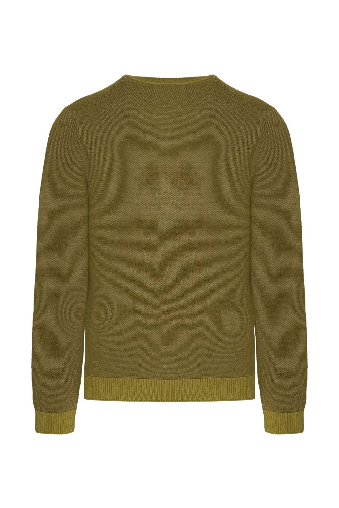 Wool and cotton-blend sweater            2