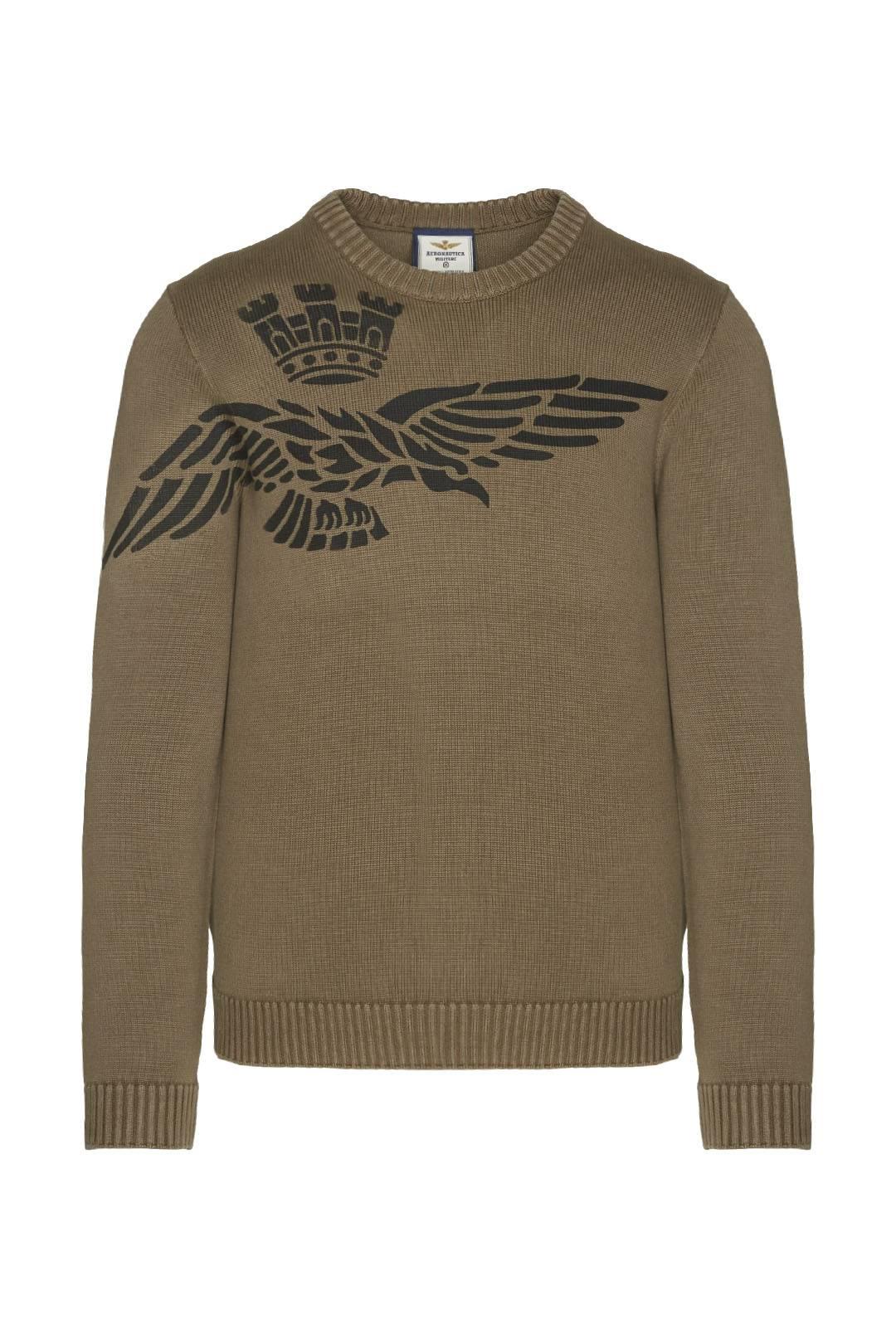 Printed crewneck cotton sweater          1