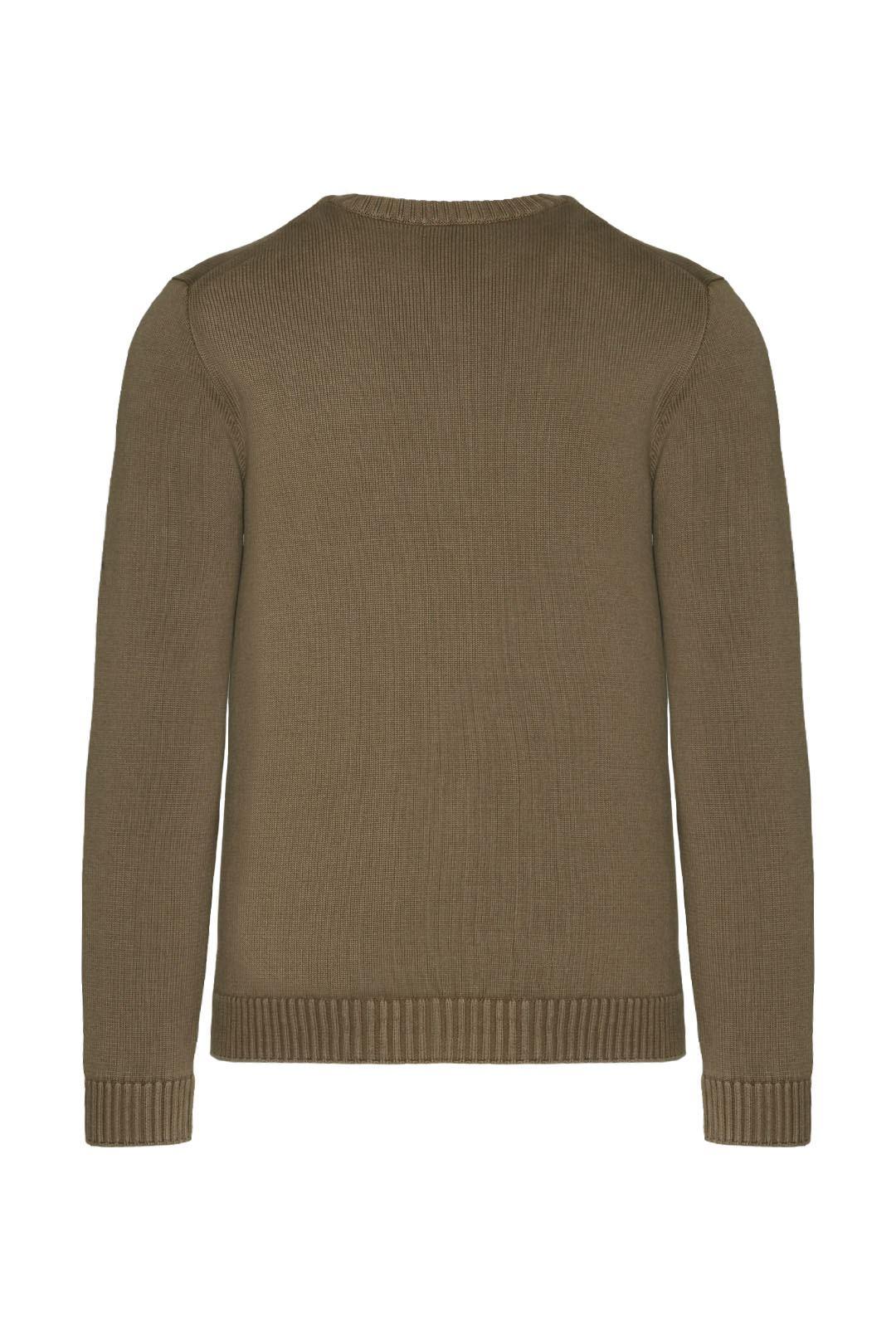 Printed crewneck cotton sweater          2